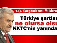 """Türkiye Başbakanı Yıldırım: """"Kıbrıs'ı oldubittiye getirmeyiz"""""""