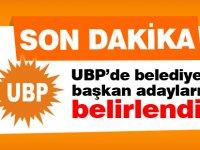 UBP'de belediye  başkan adayları belirlendi