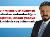 """Zaroğlu: """"2014 yılında CTP hükümeti tarafından vatandaşlığım araştırıldı, ancak yasaya aykırı hiçbir şey bulunmadı"""""""