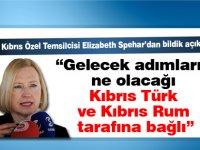 """""""Gelecek adımların ne olacağı Kıbrıs Türk ve Kıbrıs Rum tarafına bağlı"""""""