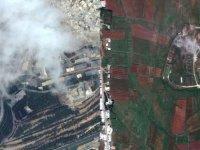 Suriye harekatında vurulan hedeflerin uydu görüntüleri
