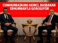Cumhurbaşkanı Akıncı ile Başbakan Erhürman haftalık olağan görüşmeleri çerçevesinde bir araya geldi