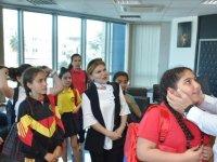 Çocuklar LTB Başkanı Harmancı'yı ziyaret etti