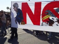 Ağrotur Askeri Üssü'nde emperyalizm karşıtı eylem