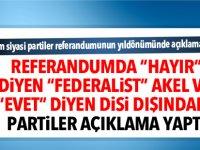 Rum siyasi partiler referandumunun yıldönümünde açıklama yaptı