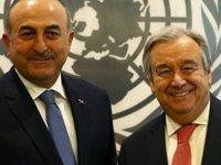 Çavuşoğlu, Guterres ile bir araya geldi