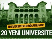 Tasarı kabul edildi! 20 yeni üniversite geliyor