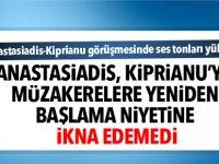 Anastasiadis, Kiprianu'yu müzakerelere yeniden başlama niyetine ikna edemedi