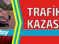 Karpaz'da kaza!  Yolun içerisinde takla attı