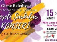 """Girne Belediyesi TSM topluluğu """"Neşeli Şarkılar Konseri"""" düzenliyor"""