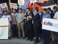 İsrail'in Filistinlilere yaptığı katliam Lefkoşa'da protesto edildi