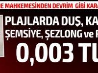 Girne Mahkemesi emsal teşkil edecek tarihi bir karar imza attı... Plajlarda sunulan ücret fiyatlarını belirledi