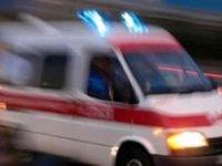 Haspolat'ta iş kazası