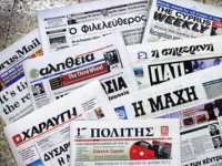 Türk lirasının değer kaybetmesi ve Kuzey Kıbrıs'ın Euro para birimine geçiş tartışmalarıyla ilgili haberler, Rum basınında