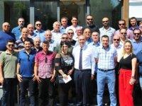 Spor yazarları ile Sertoğlu vedalaştı