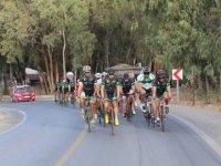 Bisiklet yol yarışı yapılıyor