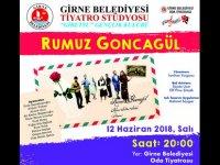 """Gibetsu Gençlik Kulübü, 12 Haziran'da """"Rumuz Goncagül"""" oyunuyla sahnede"""