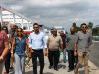Karaman ve ekibi Karaoğlanoğlu'nda Sanayi Bölgesi'ndeydi