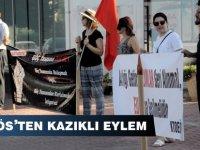 KTOEÖS Lefkoşa'da eylem yaptı