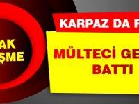 Karpaz'da facia, mülteci gemisi battı!