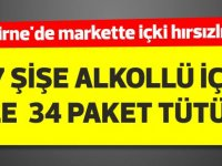 Girne'de markette içki hırsızlığı