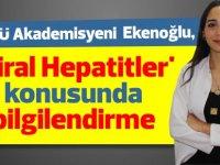 LAÜ Akademisyeni  Ekenoğlu, 'Viral Hepatitler' konusunda bilgilendirme yaptı