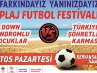 Girne'de Plaj Futbol Festivali Düzenleniyor