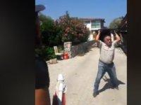 Plaja girişi engelleyen şahıslara polisten işlem