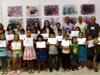 Gençlik Dairesi'nin yaratıcı sanat etkinlikleri sergisi dün akşam açıldı