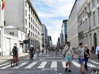 Brüksel'de 'Arabasız Gün'de trafik kazası: 3 yaralı