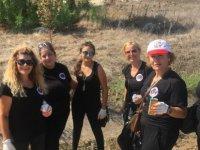 Güvercinlik ve Aslanköy kavşakları arasında temizlik etkinliği gerçekleştirildi