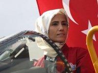 Sümeyye Erdoğan, Phantom 4 uçağında