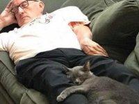 'Kedi Dede' çalıştığı barınağa binlerce dolar kazandırdı
