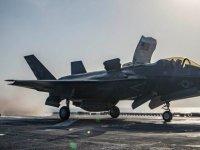 İlk kez düşen F-35B'nin düştüğü yerden görüntüler kameraya yansıdı