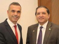 Uluçay Pakistan Senato Heyeti Başkan Mandviwalla ile görüştü