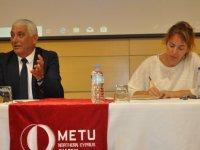 Özçınar, ODTÜ öğrencilerine Güzelyurt'un imar planını anlattı
