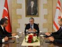 President Akıncı receives Political Party Leaders represented in the National Assembly
