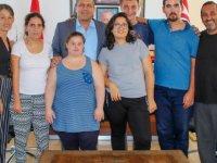 İrfan Nadir Rehabilitasyon Merkezi Öğrencileri Arter'e özel eserlerini takdim etti