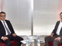 Erhürman Hisarcıklıoğlu ile görüştü