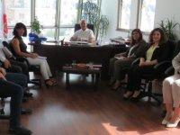 Benli Gönyeli Fazıl Plümer okul öncesi eğitim merkezi'nden heyeti kabul etti
