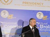 Akıncı, 27. Ulusal Üroloji Kongresi'nin açılış resepsiyonuna katıldı