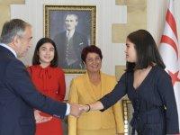 Başçeri ailesini Cumhurbaşkanı Akıncıyla tanıştırdı