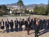 Başçeri, Atatürk, Dr Küçük ve Denktaş'ın Anıt Mezarılarıa çelenk koydu