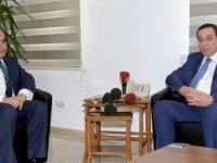 Başçeri Maliye Bakanı Denktaş'ı ziyaret etti