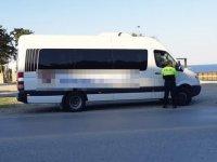 Polis, Girne-Lapta yolu üzerinde ticari araç denetimi yaptı