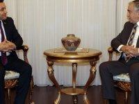 Akıncı, Alanya Belediye Başkanı Yücel'i kabul etti