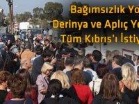 Derinya ve Aplıç Yetmez, Tüm Kıbrıs'ı İstiyoruz