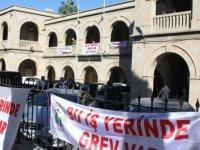 KAMU-İŞ ile KTAMS Girne Kaza Mahkemesinde bugün tam gün grevde