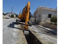 Girne'de kanalizasyon çalışması