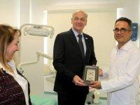 Seeberger, Nalbantoğlu Devlet Hastanesini gezdi